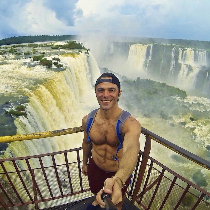 Iguazu Falls Brazil 6 pack body aroundtheworldwithjustin.com
