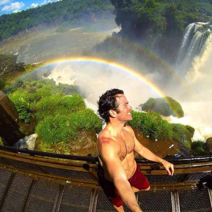 Getting to Iguazu Falls Argentina double rainbow aroundtheworldwithjustin.com