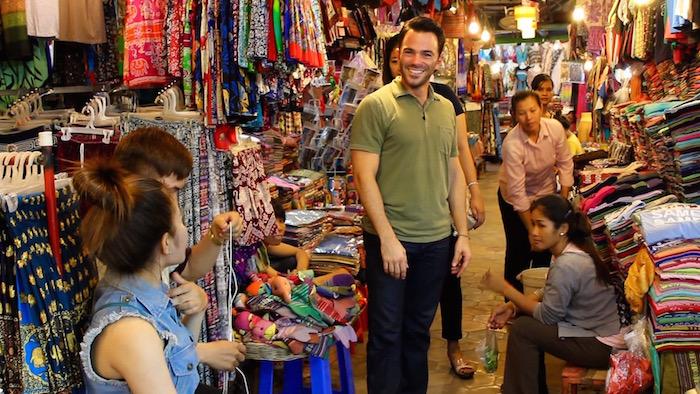 Angkor Wat Temples Siem Reap Cambodia Night Market aroundtheworldwithjustin.com
