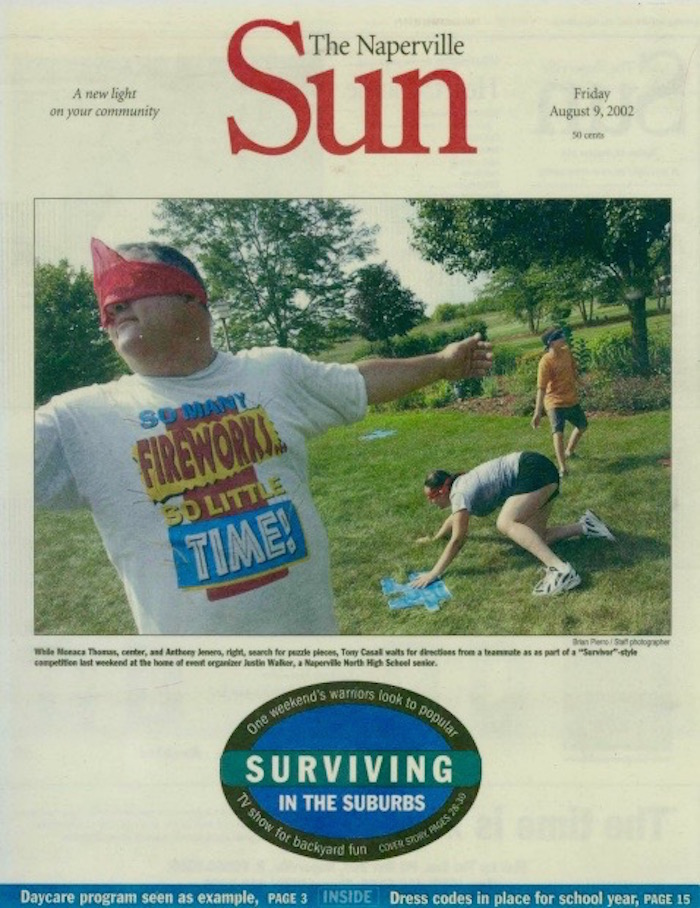 Survivor Chicago suburbs Naperville aroundtheworldwithjustin.com