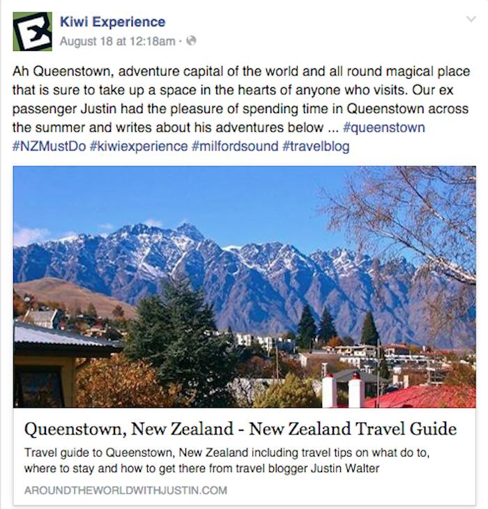 Queenstown New Zealand travel writer Justin Walter