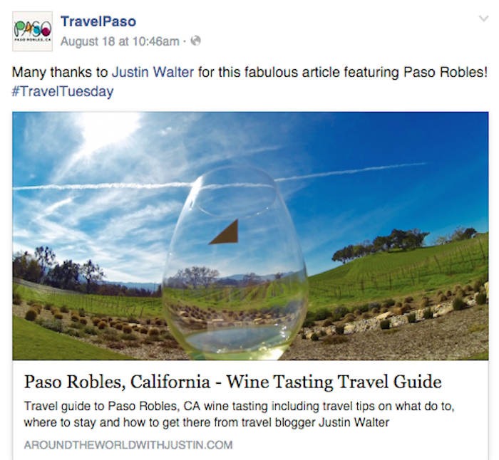 Paso Robles California Wine Tasting travel writer Justin Walter