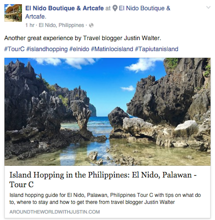 El Nido Boutique and Art Cafe travel writer Justin Walter