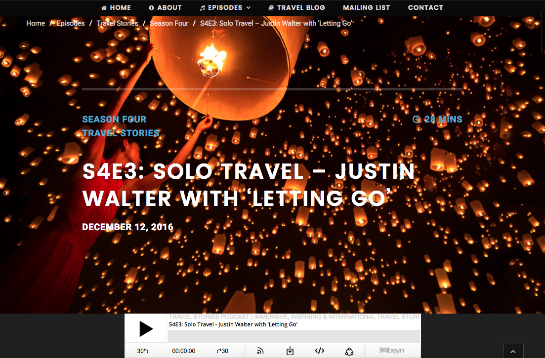 Justin Walter travel blog writer blogger adventure yi peng lantern festival thailand chiang mai