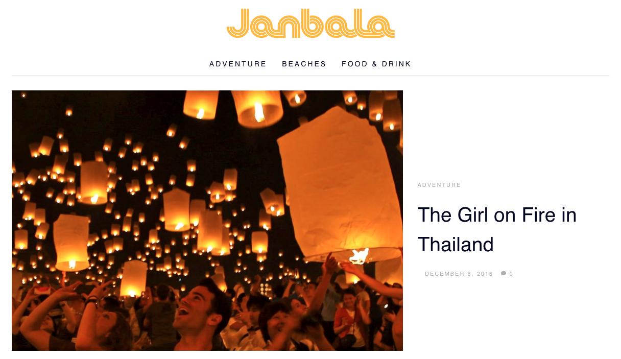 Justin Walter Janbala adventure travel writer blog blogger yi peng lantern festival thailand chiang mai