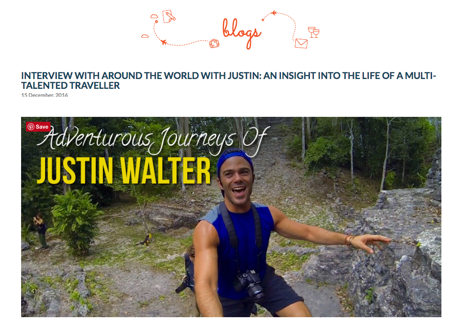 Justin Walter travel writer blogger blog interview feature TraveLibro atwjustin.com