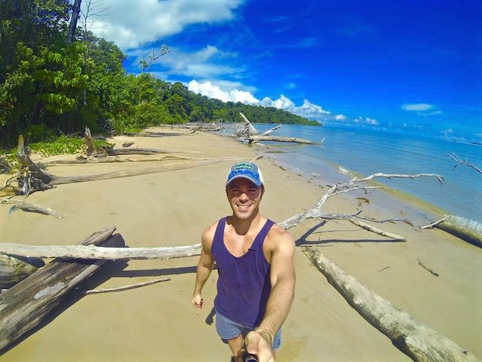 Pulau Tiga Suvivor Island Borneo Ramis Beach Tagi aroundtheworldwithjustin.com