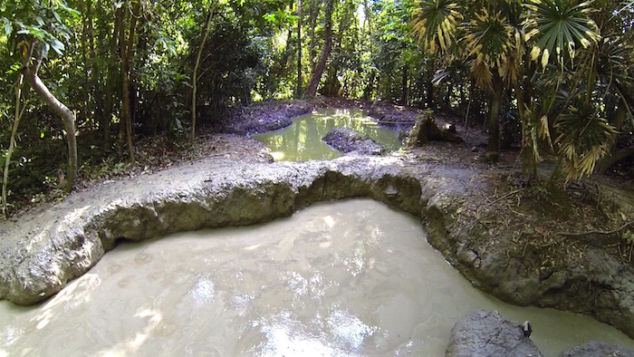 Pulau Tiga Survivor Borneo Survivor Island mud volcano bath aroundtheworldwithjustin.com