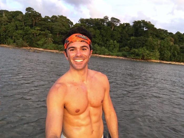 Pulau Tiga Borneo Survivor 6 pack body Justin Walter aroundtheworldwithjustin.com