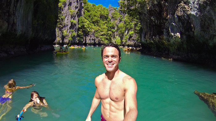 El Nido Tour A Philippines Island Hopping 6 pack body aroundtheworldwithjustin.com