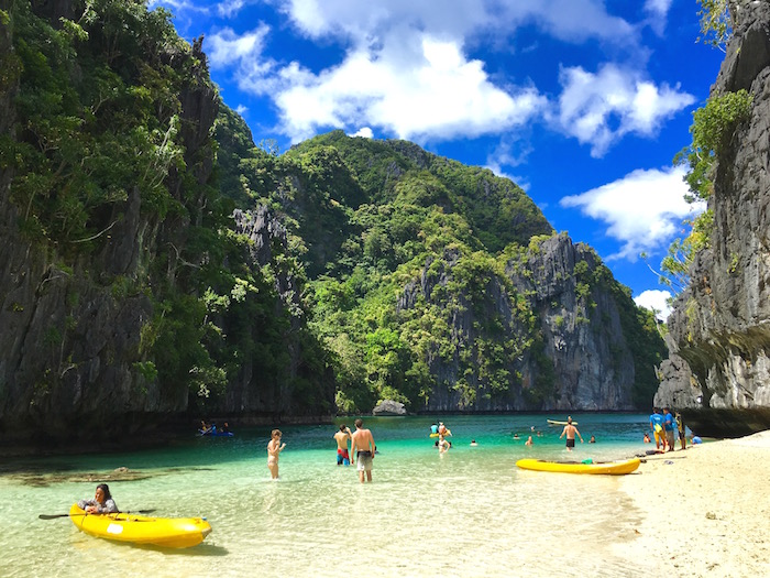 El Nido Tour A Philippines Big Lagoon aroundtheworldwithjustin.com