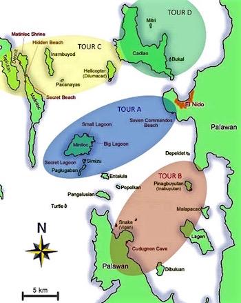 El Nido Tour Maps