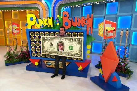 The Price Is Right Survivor Edition Jeff Probst Punch A Bunch Cirie Fields Thomas Walter Drew Carey