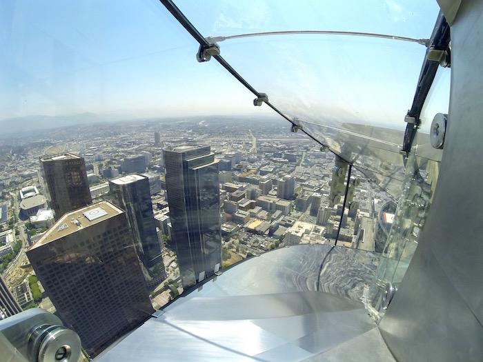 OUE Skyspace LA Skyslide Skyspace Los Angeles downtown glass slide us bank tower atwjustin.com