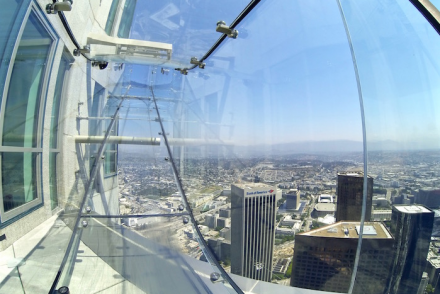OUE Skyspace LA Skyslide glass slide US Bank Tower Downtown Los Angeles