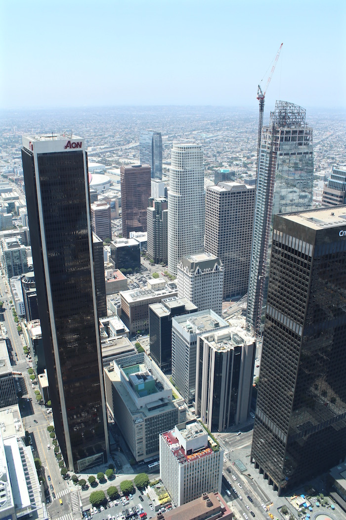 OUE Skyspace LA Skyslide Skyspace Los Angeles downtown glass slide us bank tower atwjustin.com
