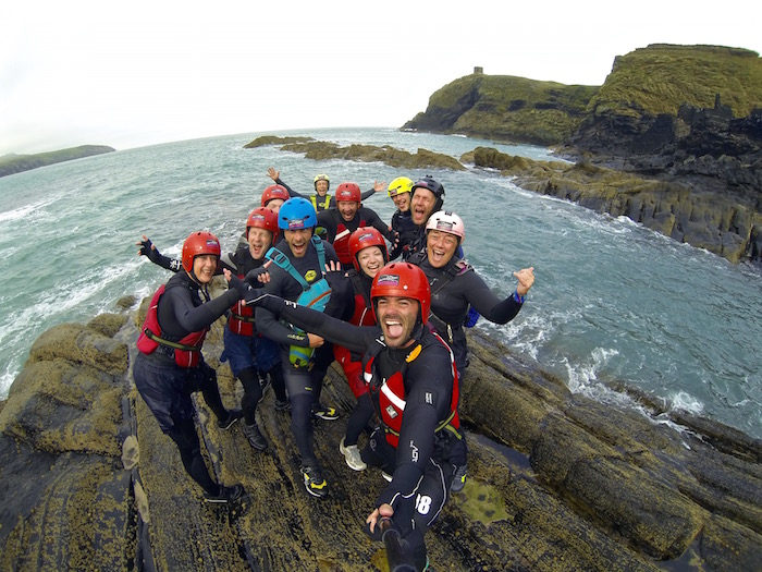 pembrokeshire wales great britain visit britain omgb moments celtic quest coasteering atwjustin.com