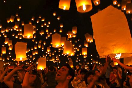 Yi Peng Lantern Festival Thailand Chiang Mai atwjustin.com