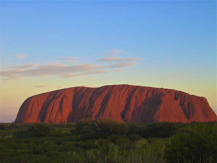 Solo Traveler Australian Outback Australia Ayers Rock Uluru sunset Travel Writer Justin Walter