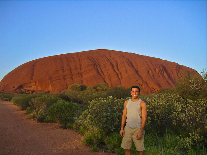 Solo Traveler Australian Outback Ayers Rock Uluru sunrise Down Under Solo Travel Writer Justin Walter atwjustin.com