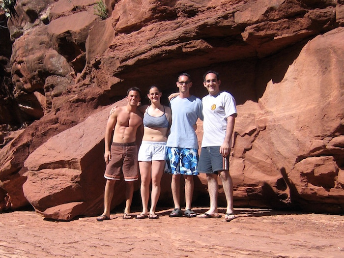 slide rock state park sedona arizona flagstaff cliff jumping natural water slide travel blog atwjustin.com