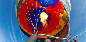 Flying High in a Hot Air Balloon over Phoenix, Arizona