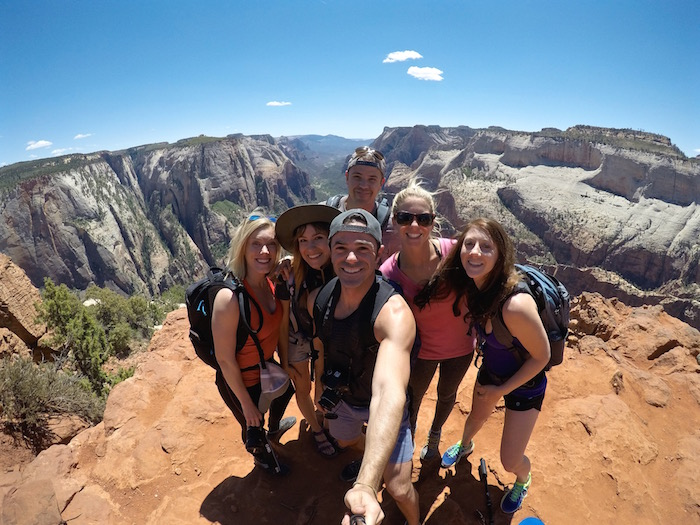 Observation Point Zion National Park hike Rachel Rudwall Spencer Spellman Megan Snedden Laura Lawson Visconti Justin Walter