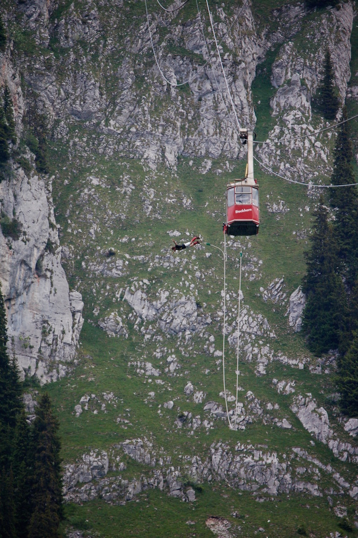 Bungee Jumping Interlaken Switzerland Stockhorn Alpin Raft outdoor adventure bungy jump