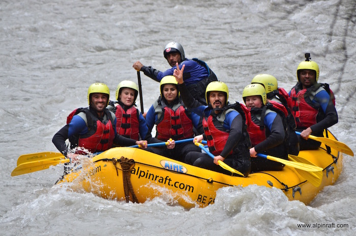 River Rafting Interlaken Switzerland Alpin Raft outdoor adventure white water rafting