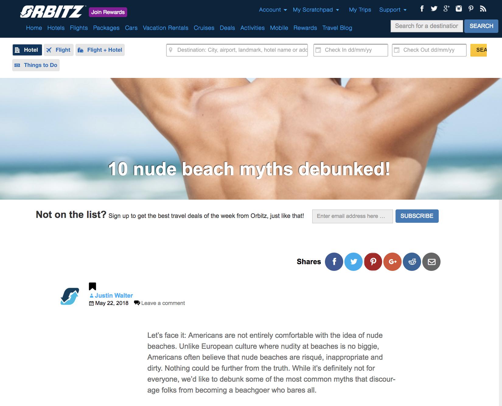 Orbtiz 10 Nude Beach Myths Debunked