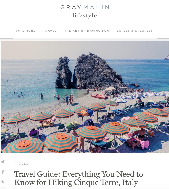 Travel guide to hiking cinque terre italy gray malin justin walter