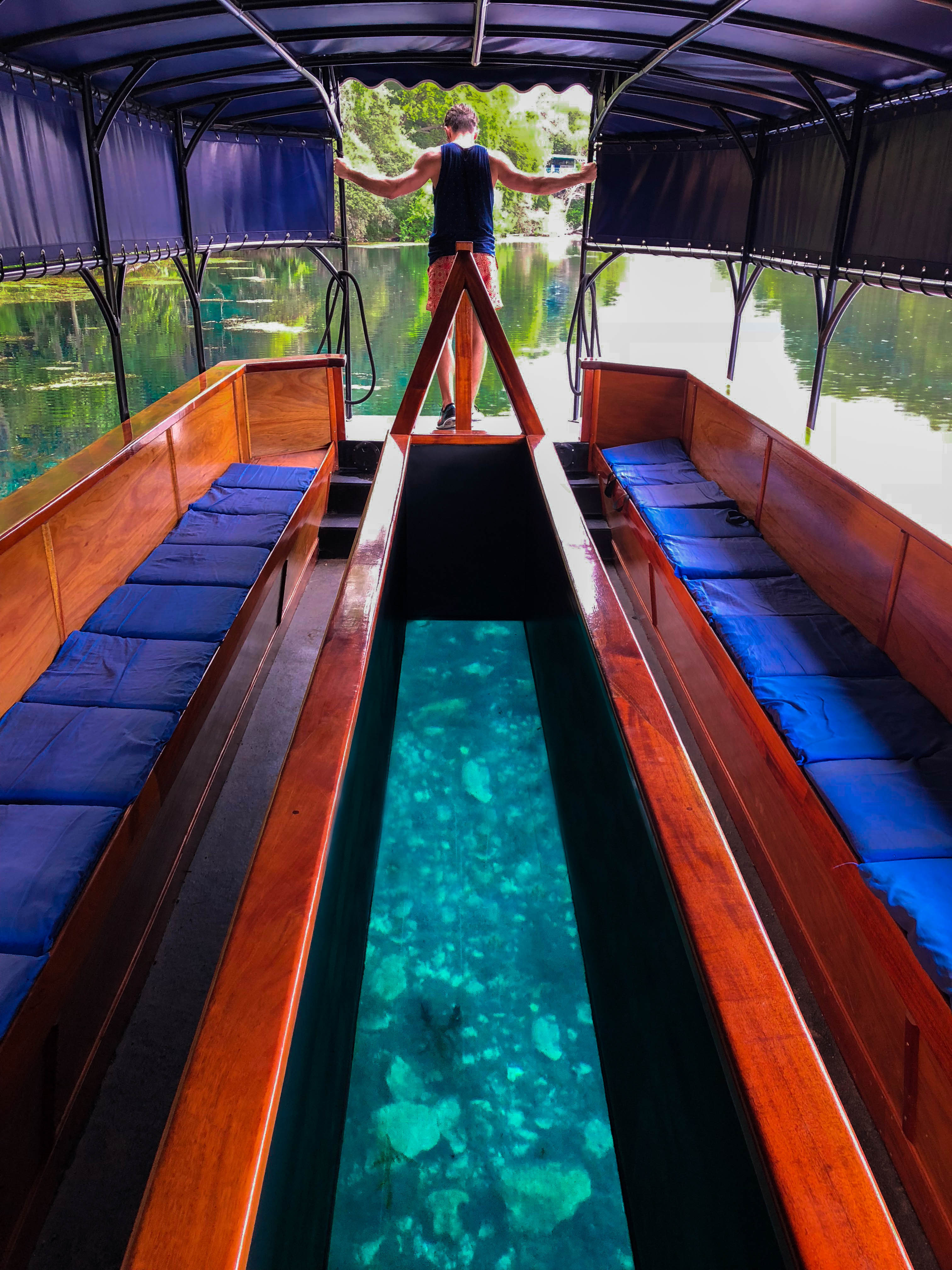 Things to do in San Marcos TX Glass Bottom Boat Tour Spring Lake