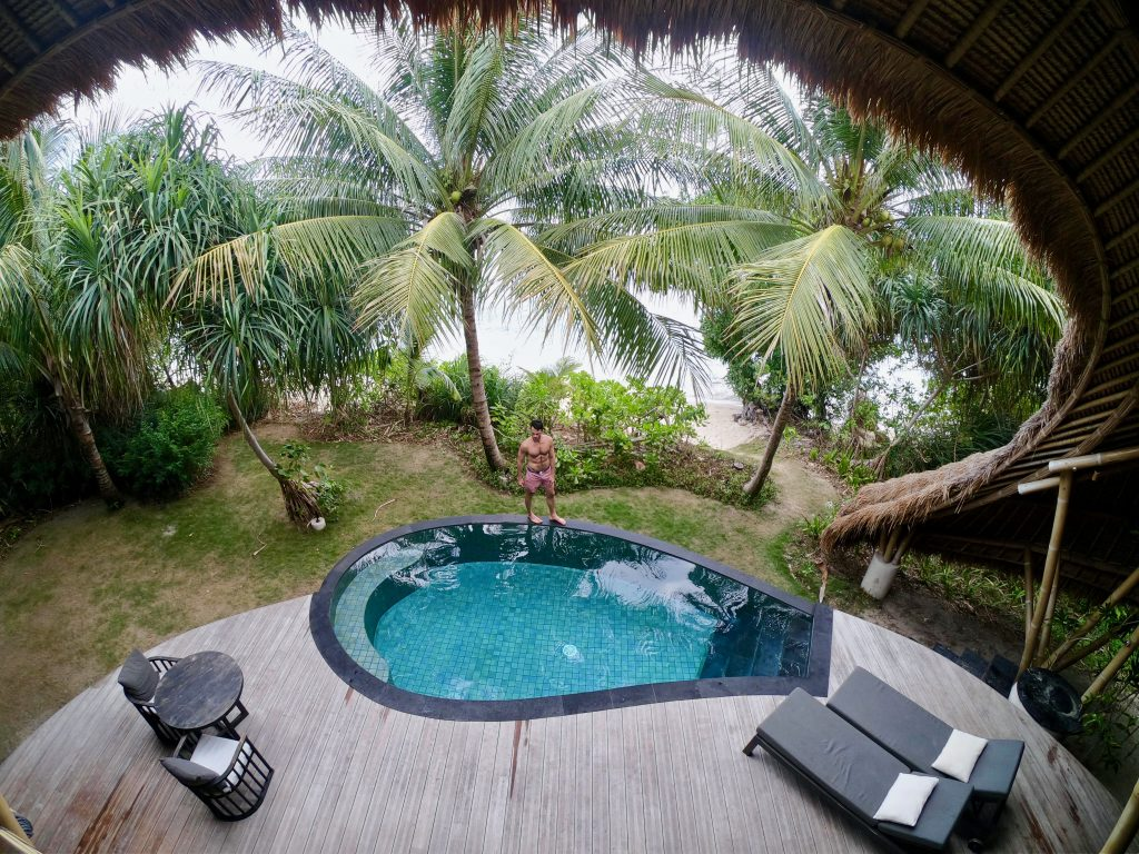 Cempedak Island Indonesia private island infinity pool Justin Walter