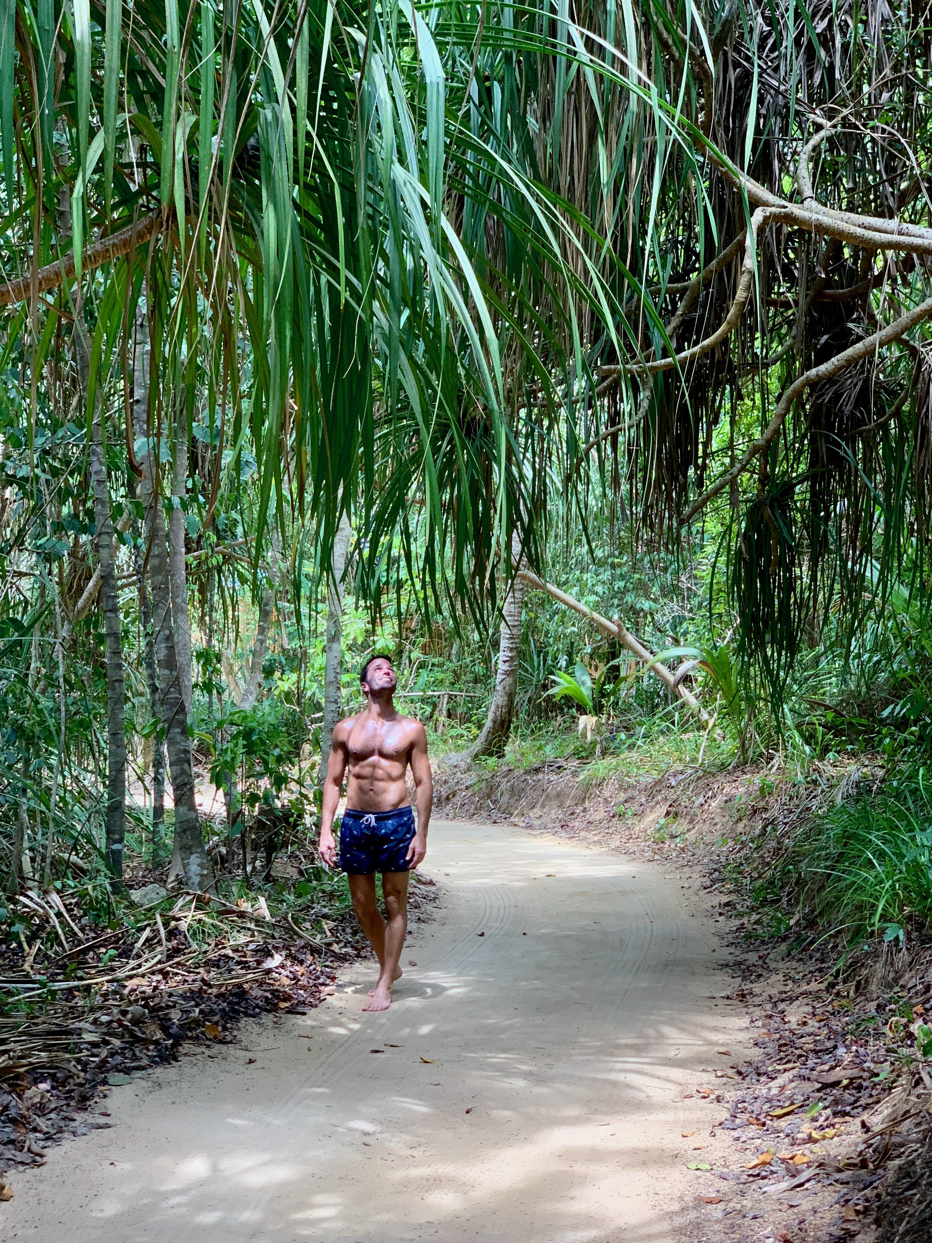 Cempedak Island Indonesia private island hiking Justin Walter