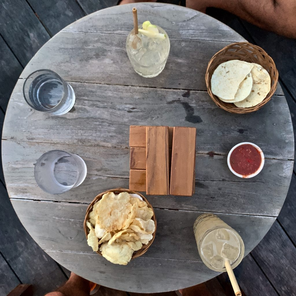 Cempedak Island Indonesia private island jenga happy hour Dodo Bar