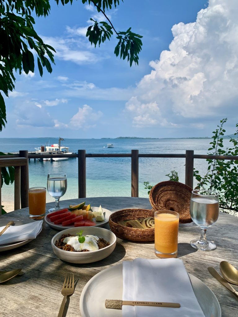 Cempedak Island Indonesia private island breakfast