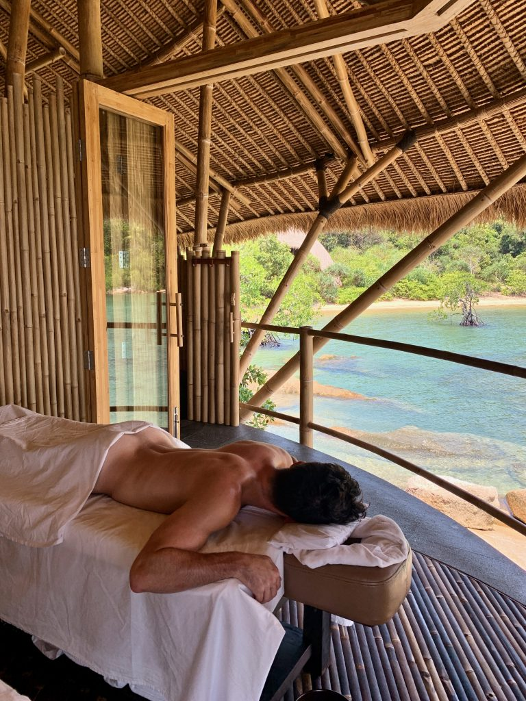 Cempedak Island Indonesia private island spa massage
