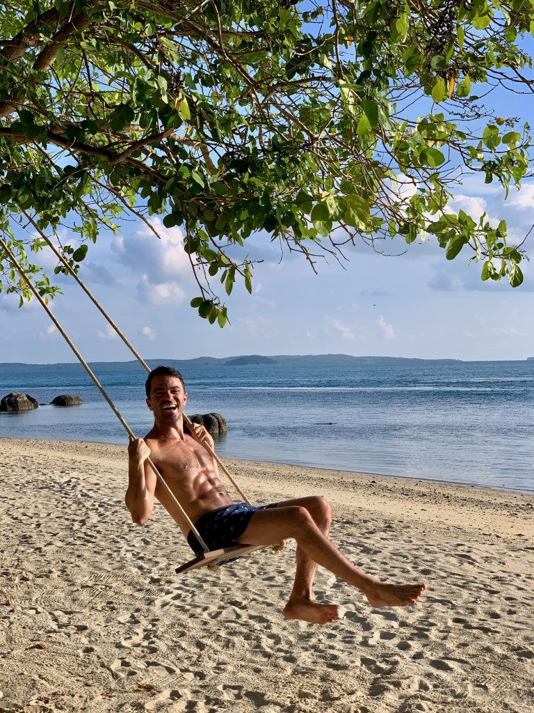 Cempedak Island Indonesia private island swing