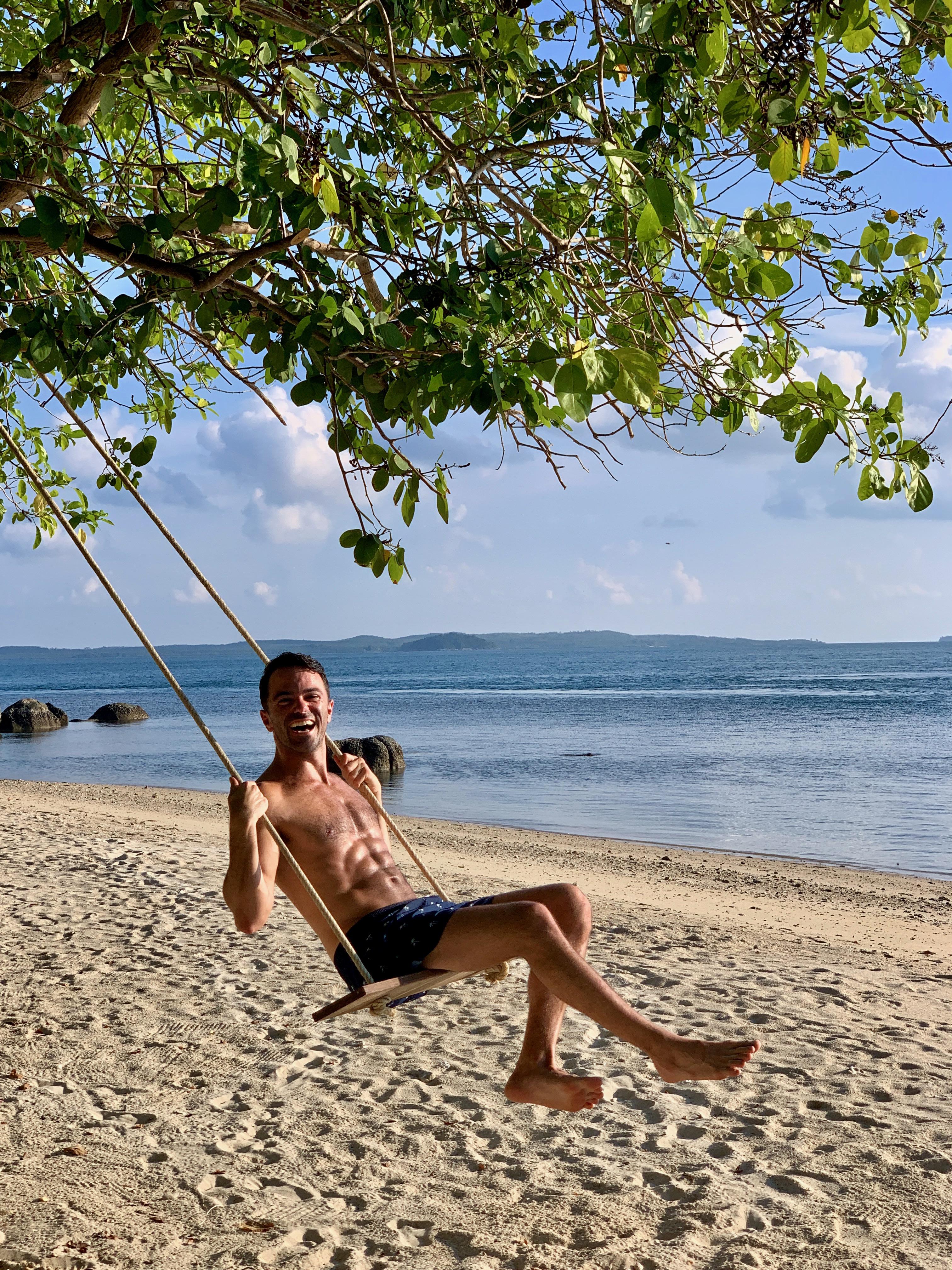 Cempedak Island Indonesia private island swing