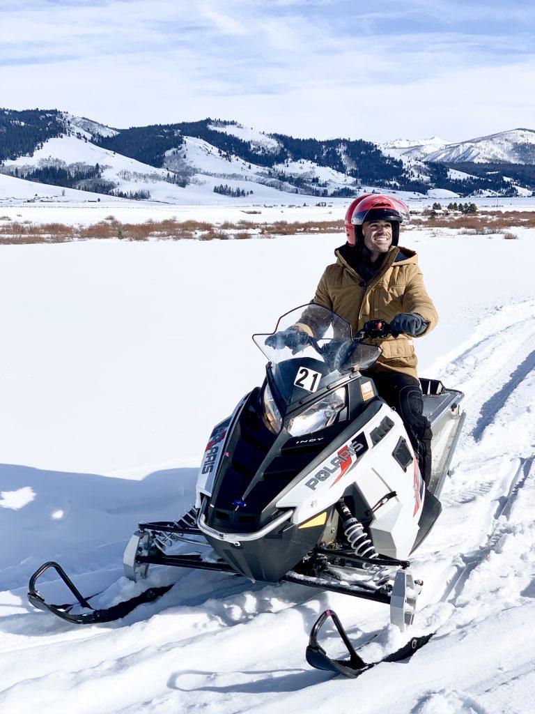 Sun Valley Idaho Smiley Creek Lodge snowmobiling Justin Walter