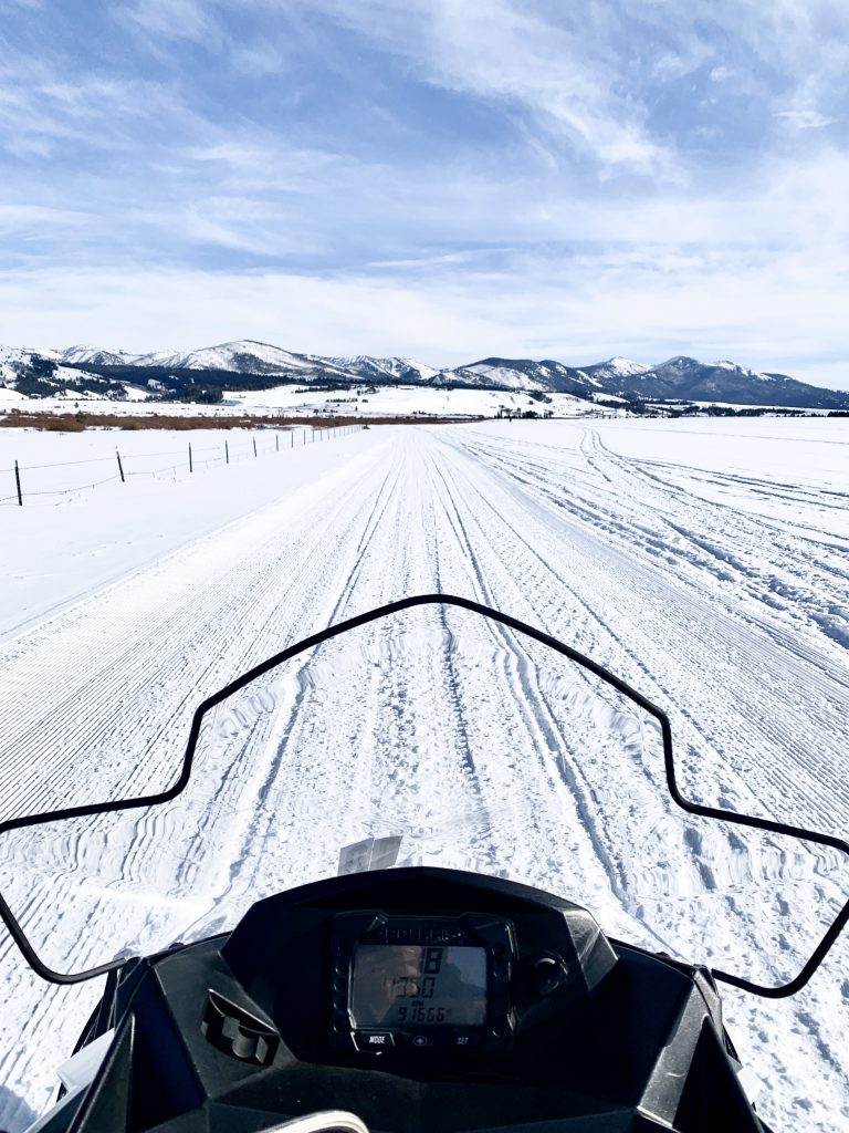 Sun Valley Idaho Smiley Creek Lodge snowmobiling