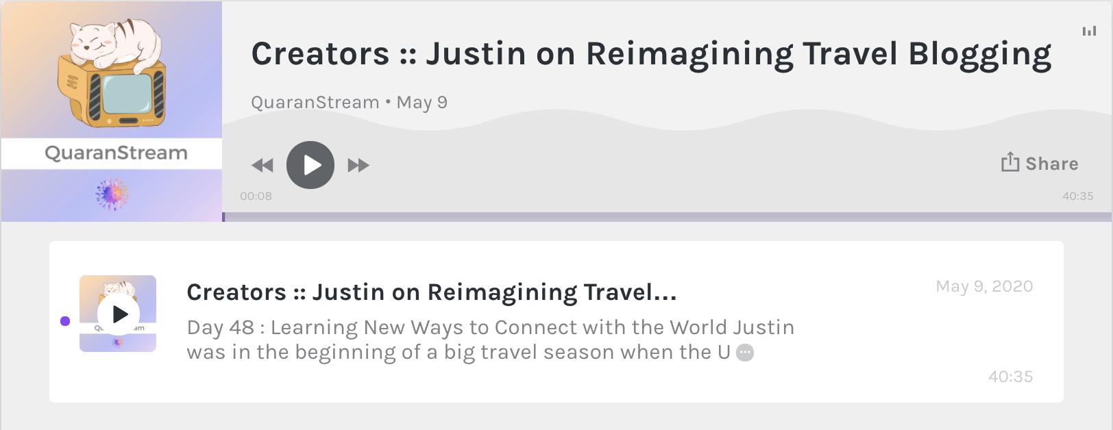 QuaranStream Justin Walter Bobby Christian travel content creator