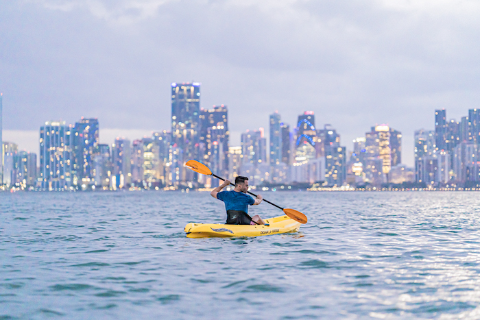 miami skyline kayaking