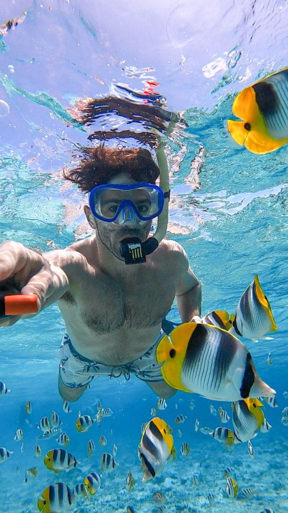 Islands of Tahiti snorkeling Bora Bora