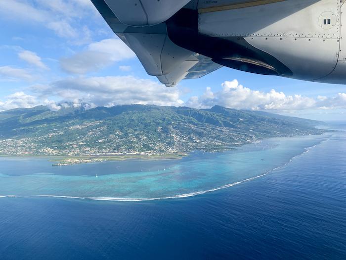 Air Tahiti plane views